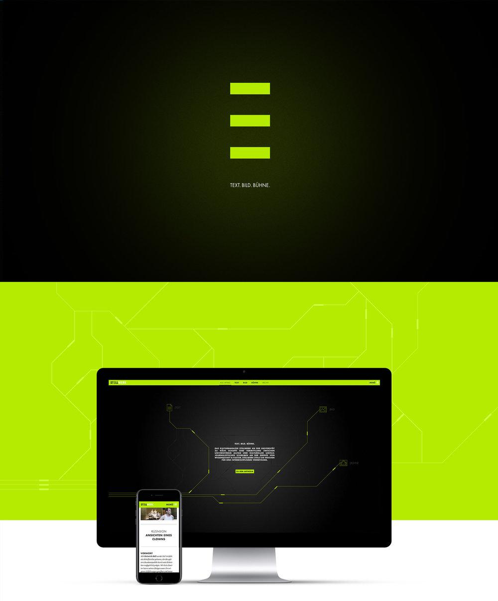 Logogestaltung und Webdesign für das Online-Magazin Stellwerk von dem kölner Grafikbüro sons of ipanema.