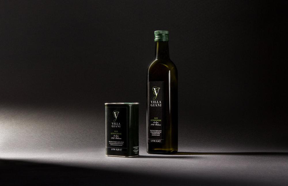 Verpackungsdesign für Villa Giani Olivenöl