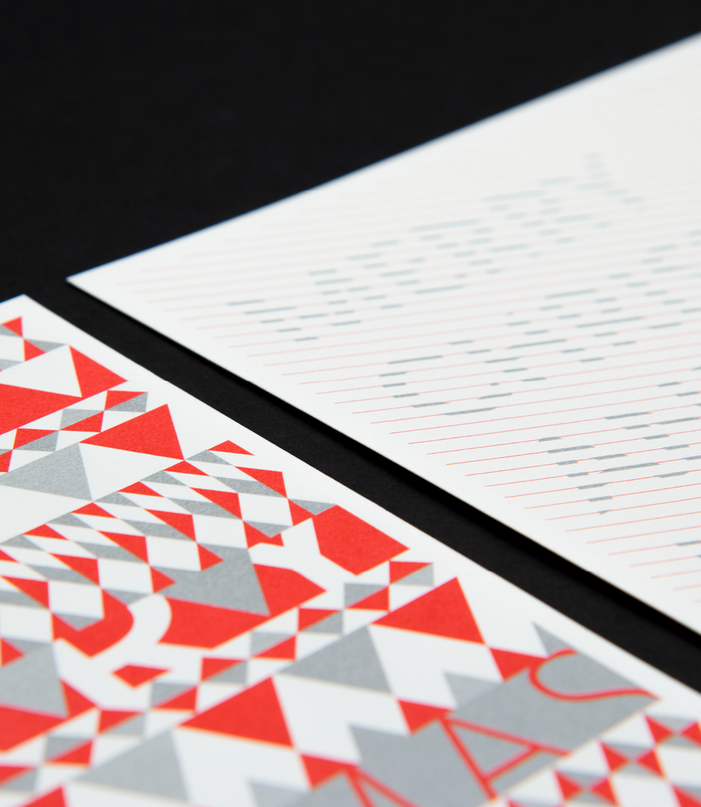 Christmascard for Street One by sons of ipanema, an office for communication design in cologne. Triangulum pattern, Stripes.