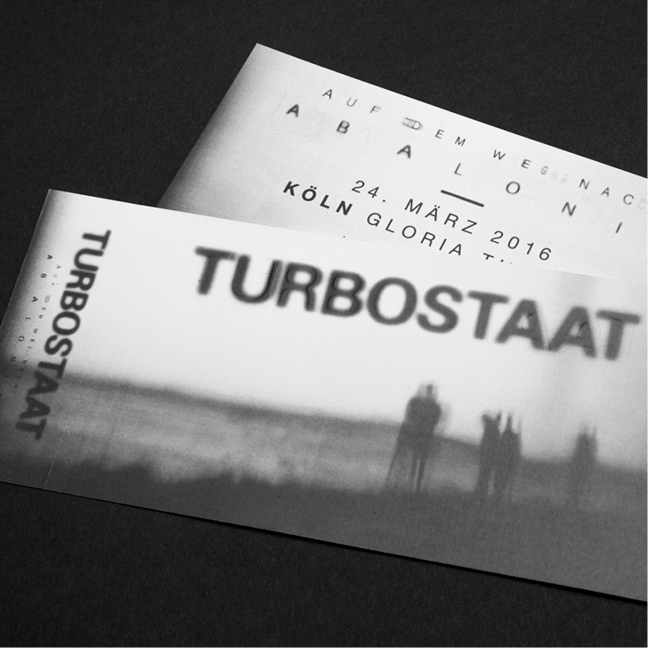 Hard Tickets für Turbostaat – gestaltet von den sons of ipanema