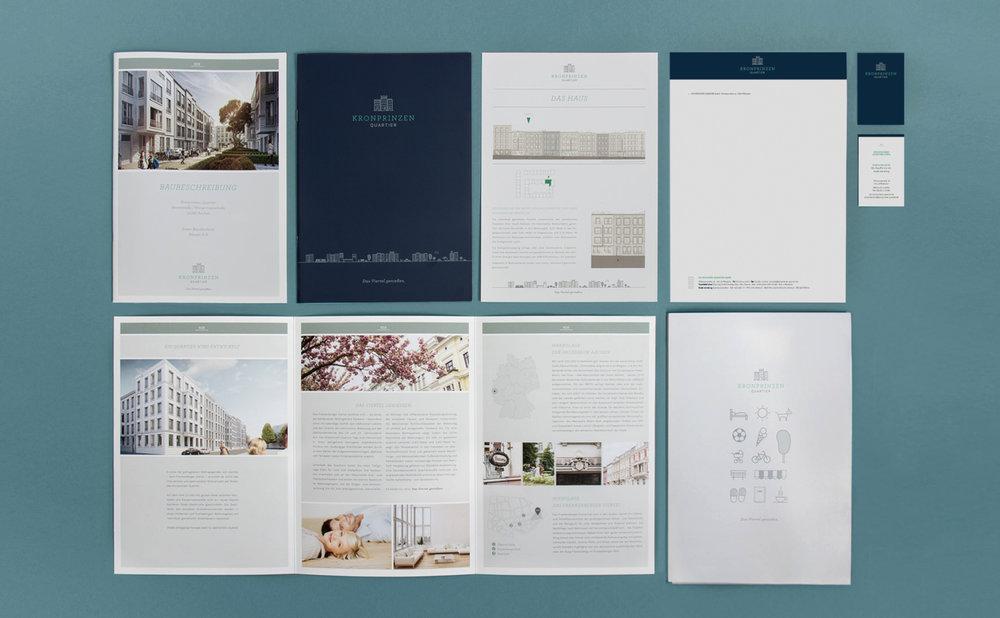 Coporate Design für das Kornprinzen Quartier in Aachen für die GS Immobiliengruppe. Art Direction für Icons, Illustrationen, Briefpapier, Visitenkarten und Layout des Kataloges, wurde von dem Kölner Grafikbüro sons of ipanema übernommen.
