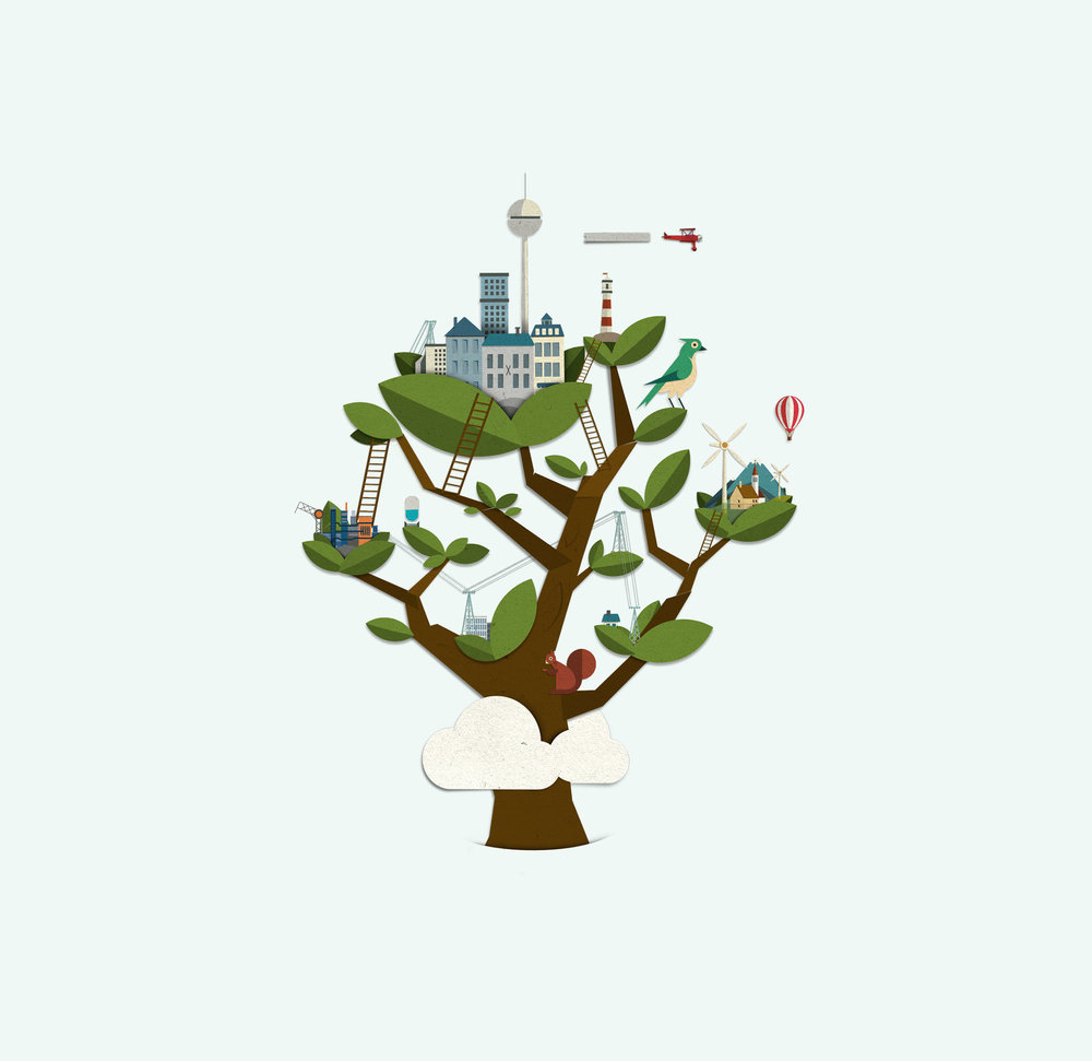 Baum-Illustration für den Finanzsektor (Nord/LB Luxemburg)