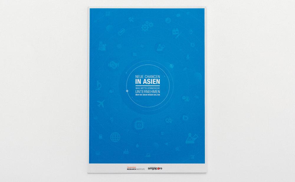 Factbook Asean - Neue Chancen in Asien. Was mittelständische Unternehmen über die Asean wissen sollten. Design-Konzept und Layout von den sons of ipanema in Zusammenarbeit mit buntebrause und dem Handelsblatt Research Institute.