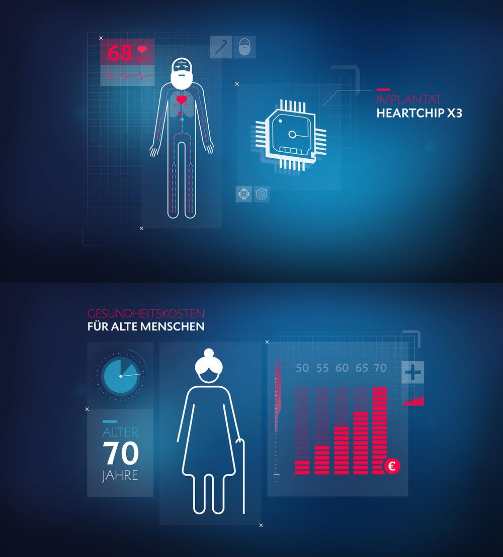Infografik Gesundheitskosten für alte Menschen in ARD Themenwoche Toleranz gestaltet von den sons of ipanema in Köln.