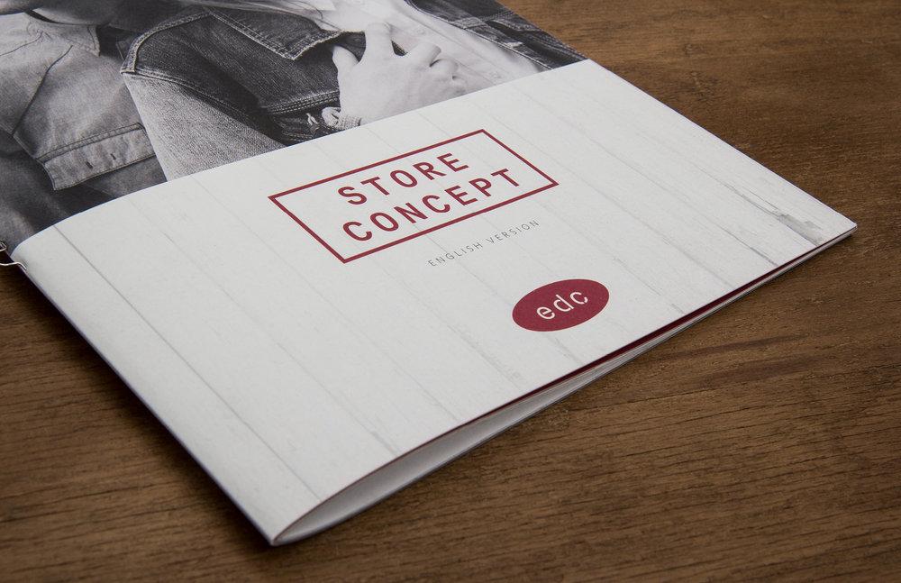 Die sons of ipanema aus Köln organisieren das Fotoshooting im edc concept store und übernehmen das Editorial Design einer B2B Broschüre.