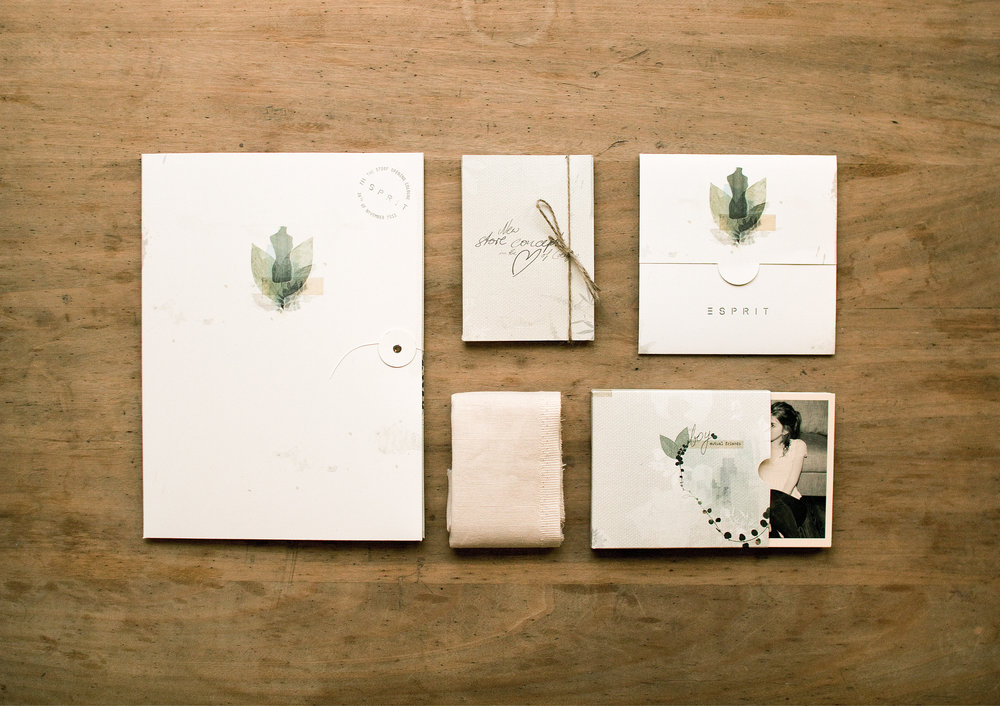 Collage, Illustration und Design für das neue Esprit Store Concept aus der Feder der sons of ipanema aus Köln.