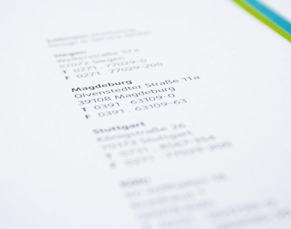 Eine saubere Typografie ist oft die Grundlage eines guten Designs.