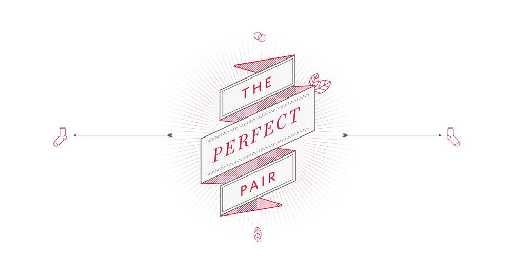 Logogestaltung für The perfect Pair Socken von von ESPRIT. Gestaltet von der Agentur sons of ipanema, in Köln.