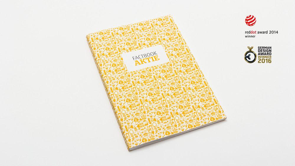 Das Factbook Aktie der comdirect Bank wurde von den sons of ipanema aus Köln gestaltet und mit einem Red Dot und dem German Design Award ausgezeichnet.