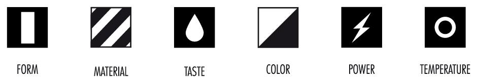 Verschiedene Icons für den RED BULL Film von den sons of ipanema.