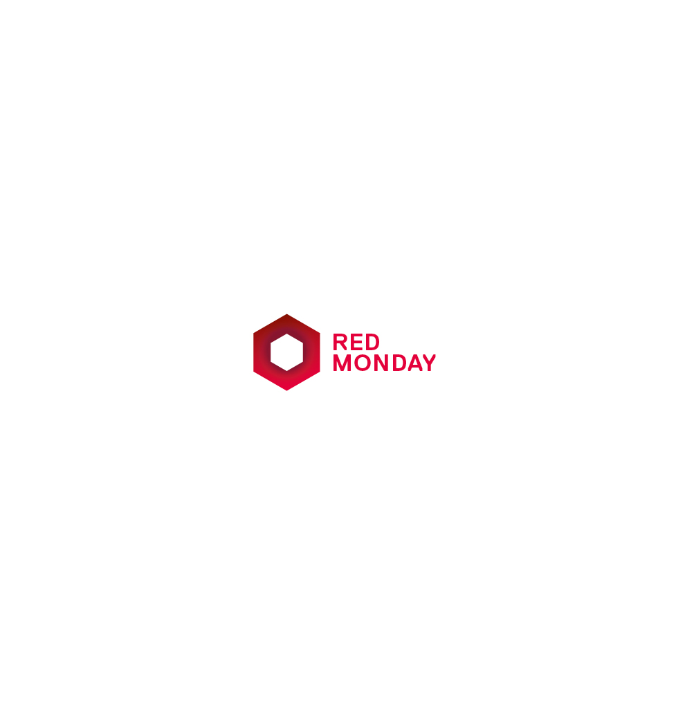 Logo auf weißem Hintergrund für das Gastro-Event Red Monday von Red Bull. Gestaltet von den sons of ipanema in Köln.