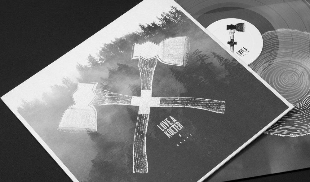 Vinal-Kastentasche, transparentes Vinyl und Sleeve für Love A und Koeter.