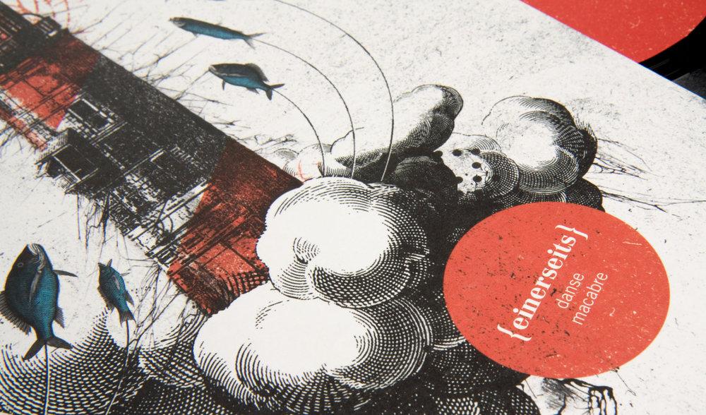 Die sons of ipanema aus Köln haben für die Trierer Band Danse Macabre ein Cover mit Leuchtturm illustriert und collagiert.