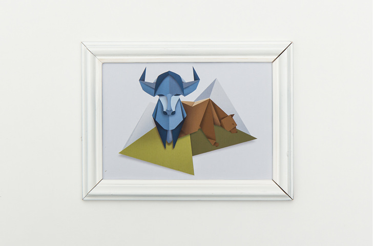 Illustration von Bär und Stier, die den DAX visualisieren