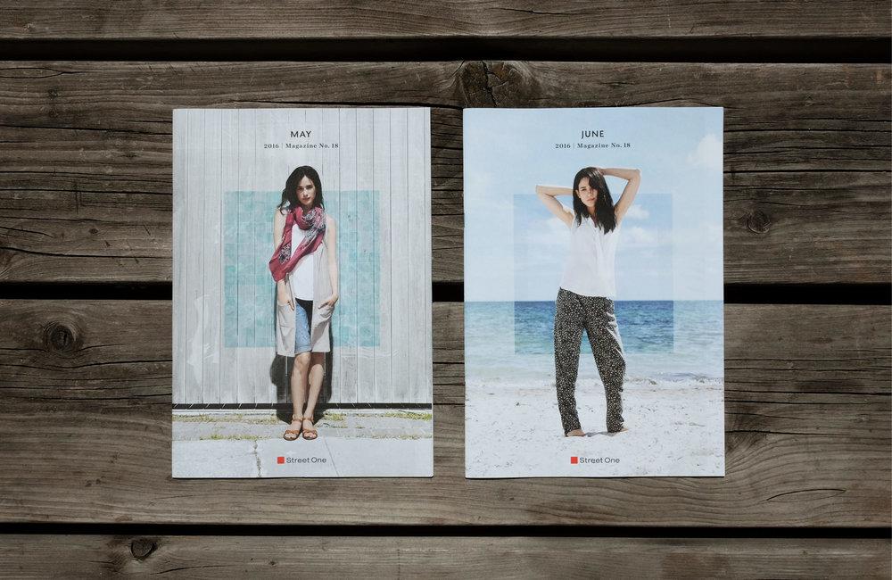 Mai und Juni Magazin von der Firma Street One. Gestaltet und konzipiert von den sons of ipanema in Köln.