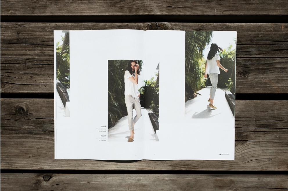 Doppelseite aus dem Street One Magazin. Gestaltung von den sons of ipanema einer Grafik Agentur aus Köln.