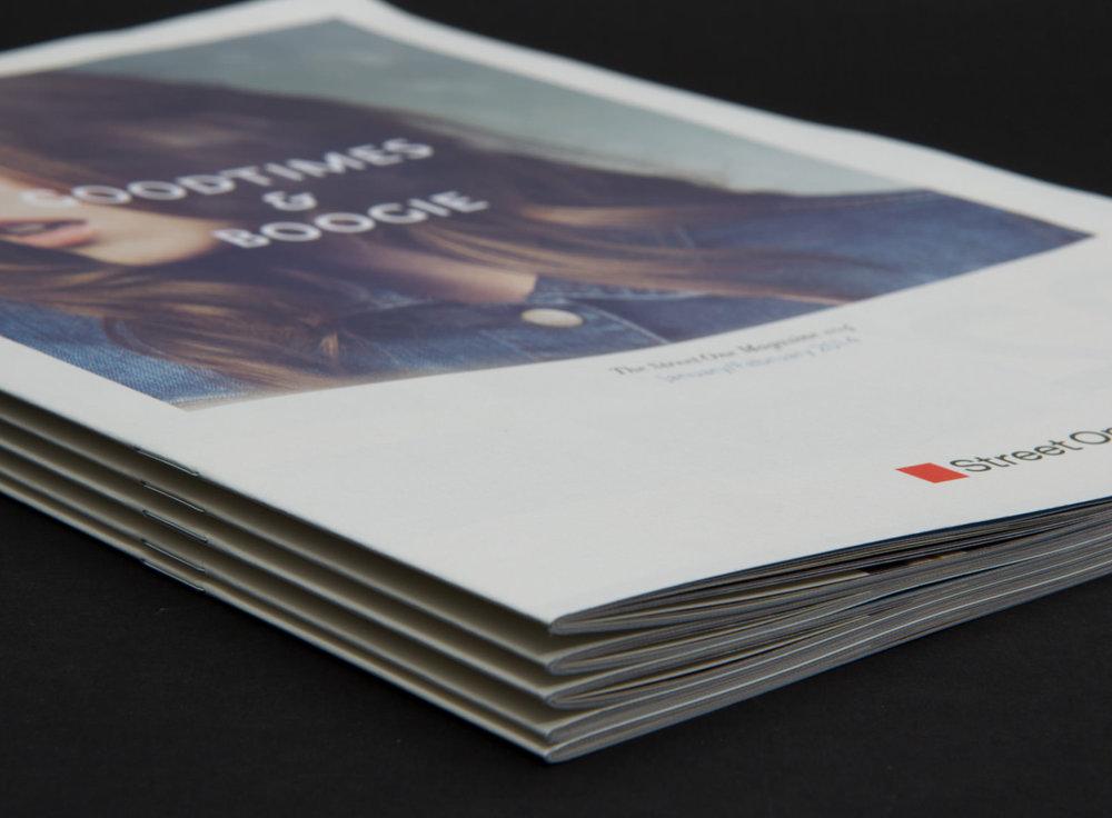 Detailansicht von Street One Cover Januar und Februar. Editorial Design von den sons of ipanema aus Köln.