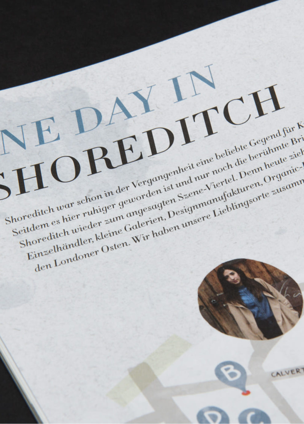 One Day in Shoreditch - Detail einer Karten und Orte Illustration für den Kunden Street One. Layout von den sons of ipanema.
