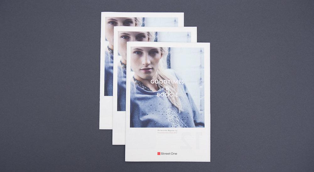 """Cover vom Street One Magazin - November und Dezember mit dem Titel """"Goodtimes & Boogie"""". Gestaltung von der Grafik Agentur sons of ipanema."""