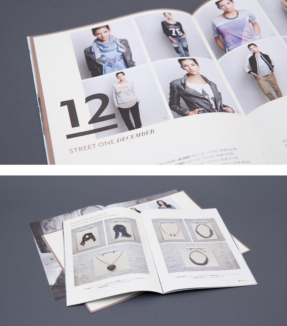 """Doppelseiten aus dem Street One Magazin - November und Dezember mit dem Titel """"Goodtimes & Boogie"""". Gestaltung von der Grafik Agentur sons of ipanema."""
