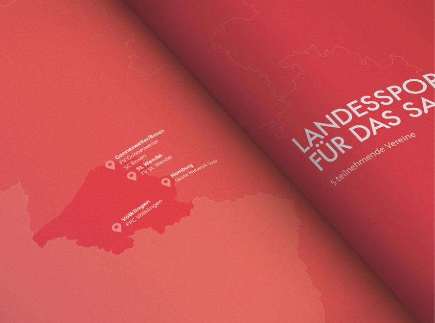 Landkartenillustration Deutscher Olympischer Sportbund (DOSB)