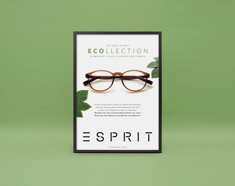 Postergestaltung für Esprit Ecollection