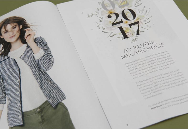 Intro des Magazins für Street One – Magazindesign von den sonsofipanema, einer Werbeagentur aus Köln