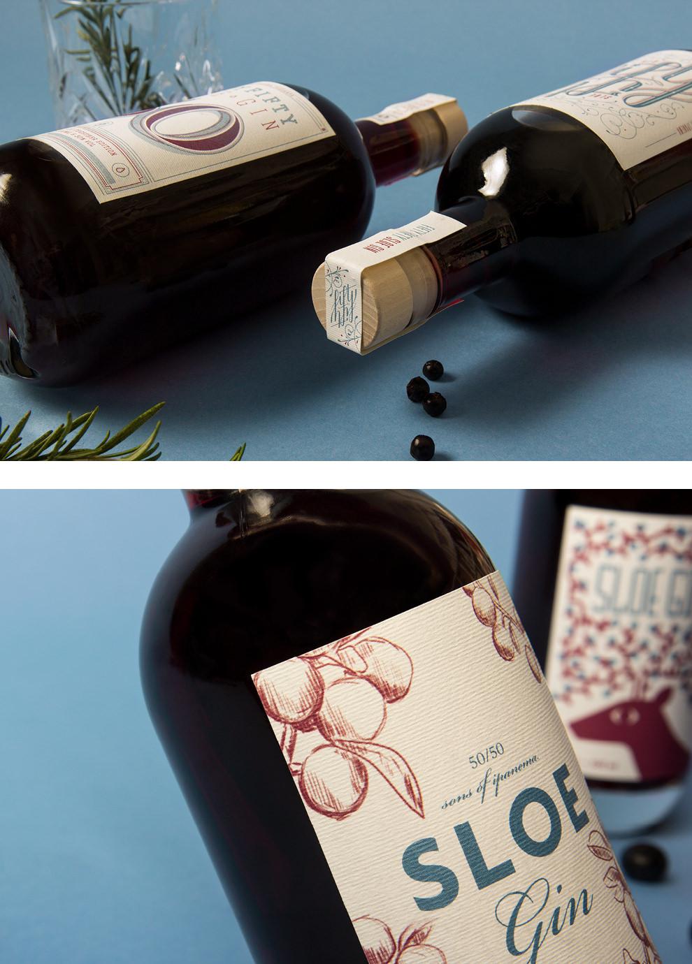 Das Designbüro sons of ipanema aus Köln hat im Rahmen von Fifty Fifty Sloe Gin verkauft. Der Erlös wurde gespendet.