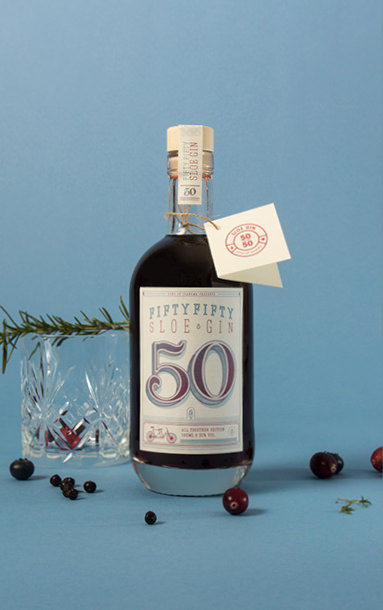 Motiv 4 der Fifty Fifty Sloe Gin Special Edition | sons of ipanema, Studio für Grafkidesign aus Köln