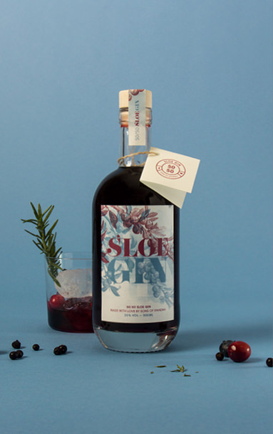 Motiv 5 der Fifty Fifty Sloe Gin Special Edition | sons of ipanema, Designbüro aus Köln