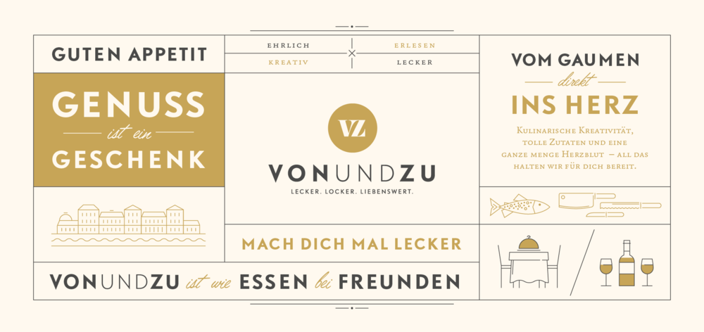 Gutscheingestaltung für vonundzu, ein Restaurant in Bad Ems. Gestaltung von den sons of ipanema (Designagentur aus Köln)