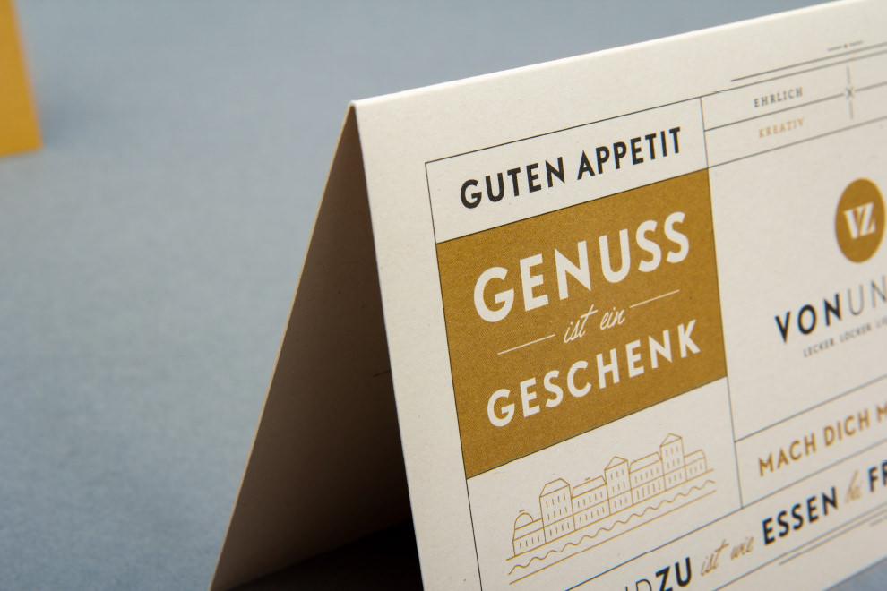 Die sons of ipanema, eine Designagentur aus Köln, haben einen Gutschein für vonundzu aus Bad Ems gestaltet
