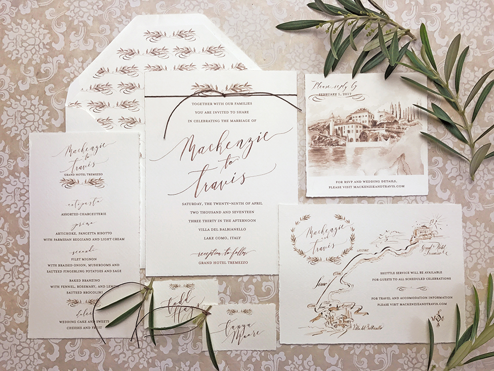 Italy Wedding Invitation | Paper Melange | Exclusive Wedding Invitation Designer