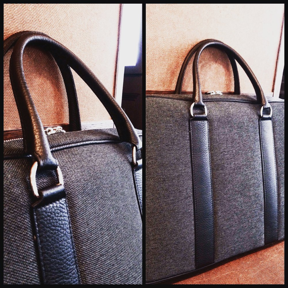 Laptopbag Leather-Canvas