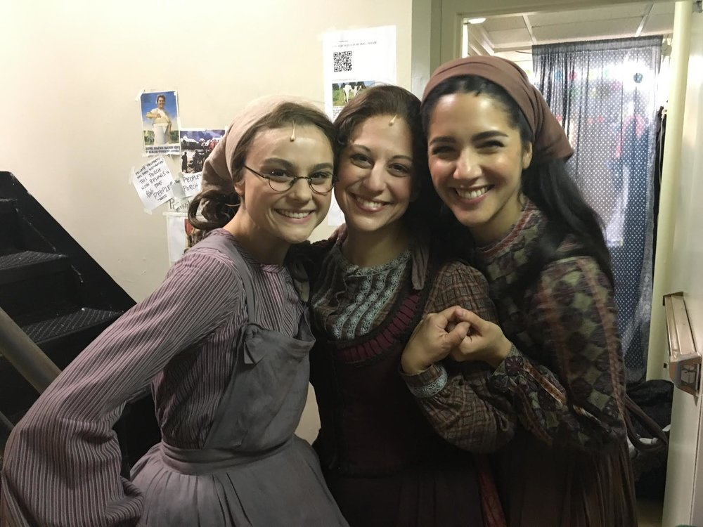 Backstage at Fiddler on the Roof during a performance when I was on for Tzeitel.