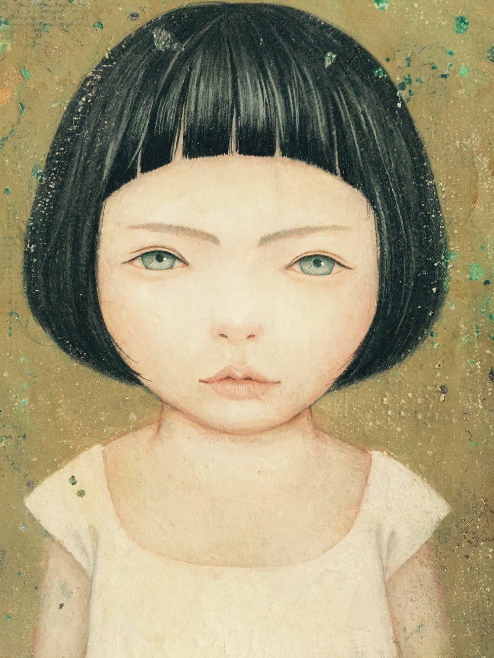 Gouache, aquarel & acryl op doek met vernislaag- 23 x 30 cm