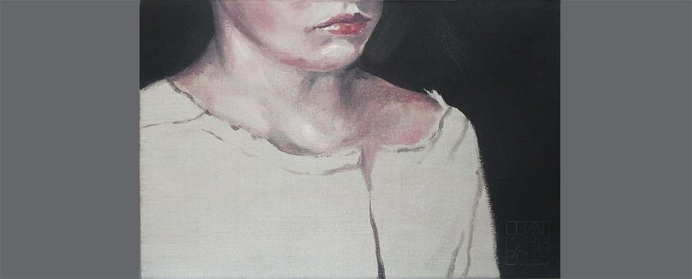 The kid - Olie op doek - 20 x 40 cm