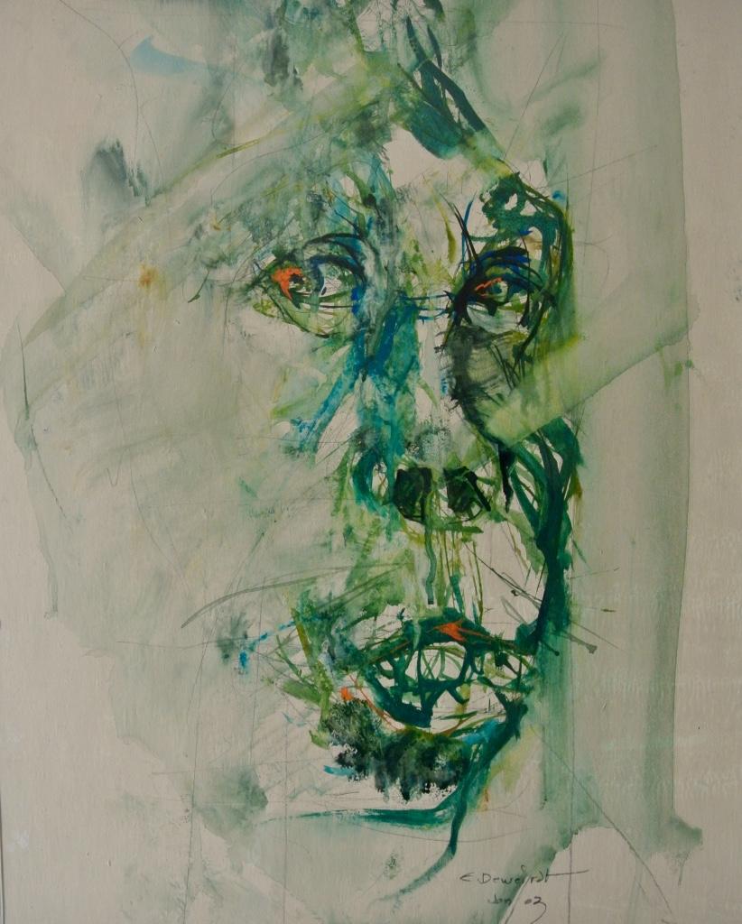 Deweirdt - Gorilla - 40 x 50 cm - Aquarel, inkt en kalk op papier