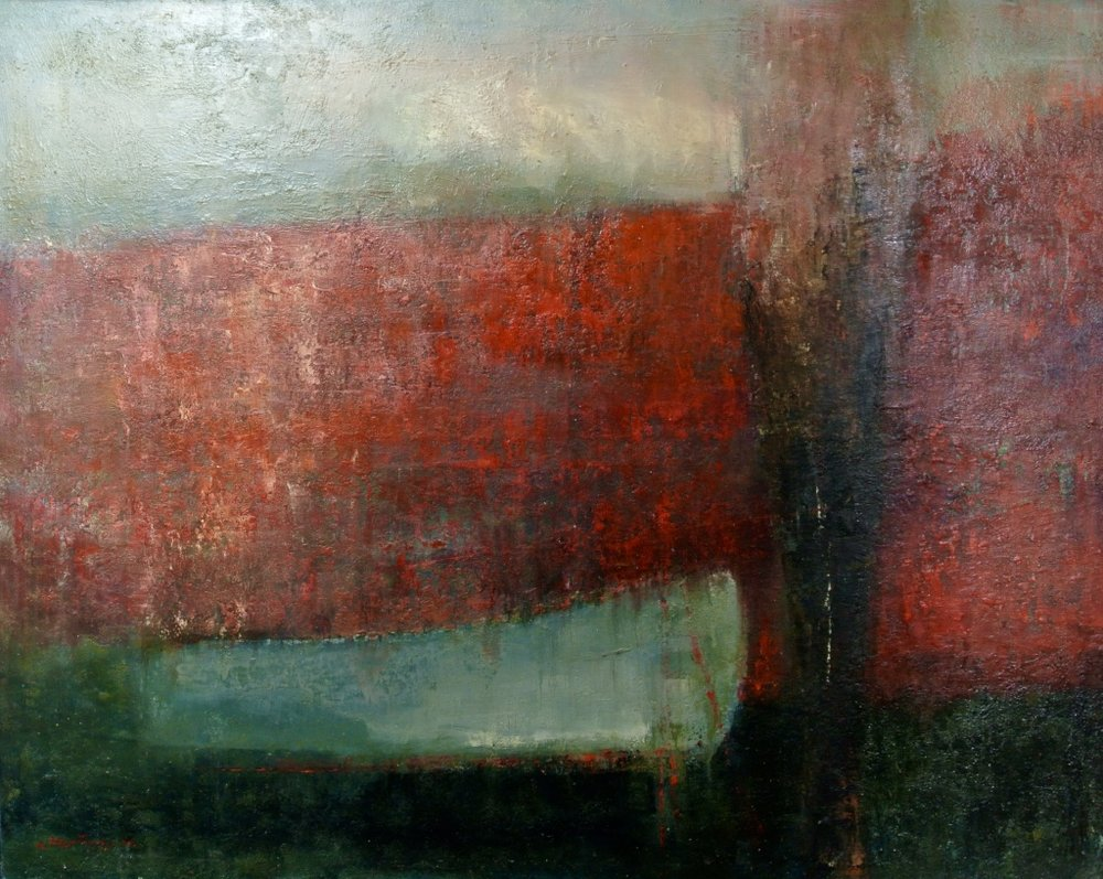 Lika Nakashidze -140 cm x 170 cm - Oil sur toile