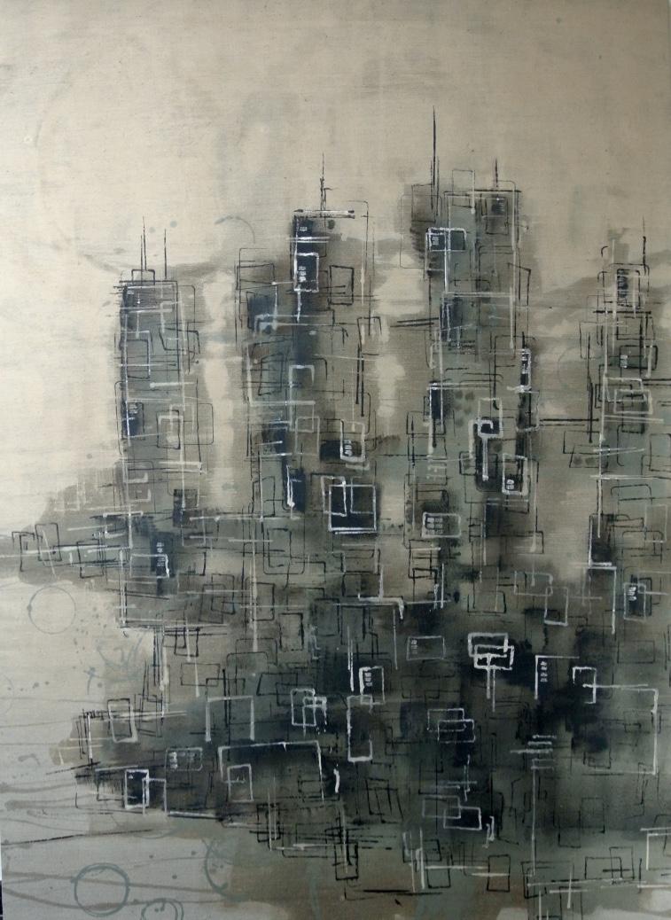 Miguel Sanchez - 140 cm x 190 cm - Oil sur toile