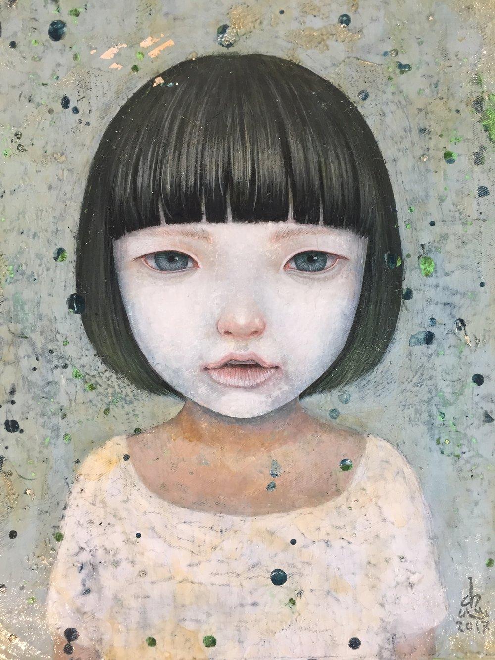 Gouache, aquarelle & acrylique sur toile- 23 x 30 cm