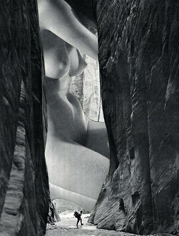 The Encounter - 2017 - Collage op papier - 40 x 50 cm