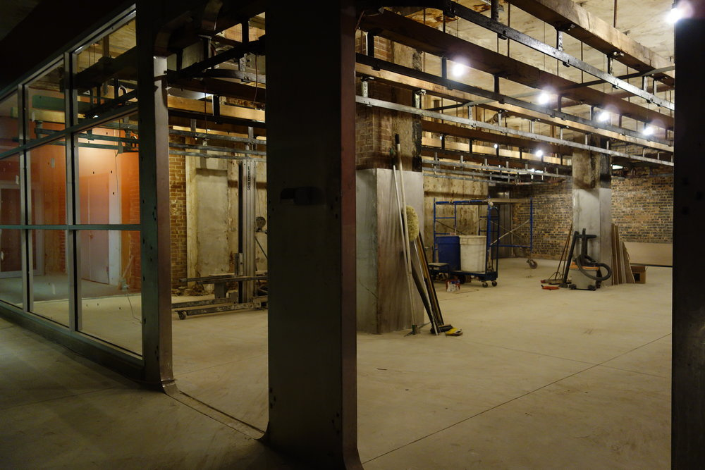The Packingtown Museum space at The Plant, in the works.