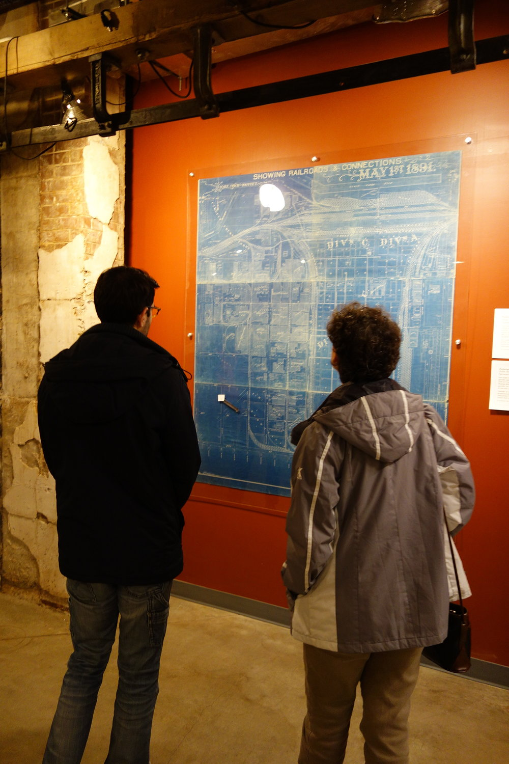 The future Packingtown Museum space was open at The Plant during Open House Chicago 2017. It included a preview of the museum themes and featured a map of the Union Stock Yard and Packingtown Railroad Connections dated May 1, 1891, on loan from the Dominic A. Pacyga Collection.