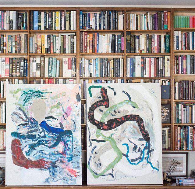 "@leroymirandajr, 271 Works, Picasso's Former Electrician + @leroymirandajr, Garden Fur (Love, 48"" x 36"", $2,600 each)"