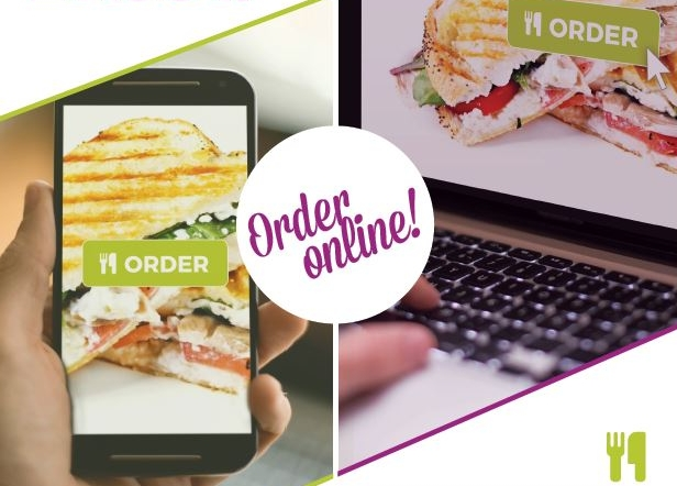 NEW ONLINE ORDERING!DESKTOP & MOBILE OPTIONS  - PRE-ORDER YOUR YOUR MEAL FROM YOUR DESKOR MOBILE PHONE AND PICK-UP IN THE CAFE.