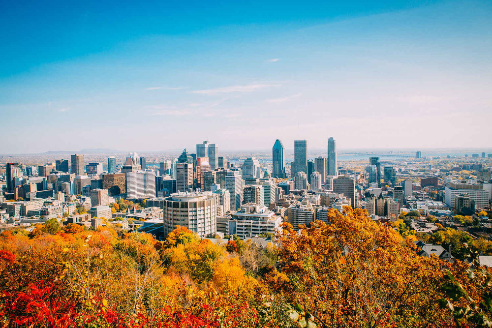 downtown montreal from Mont-Royal Fitz