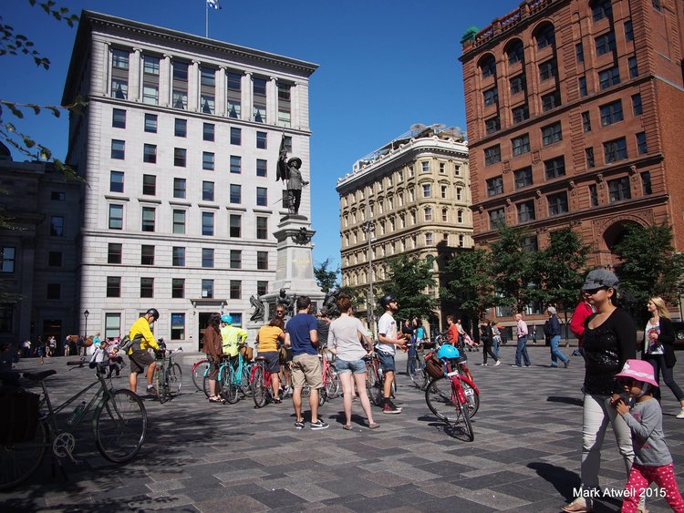 Old Montreal bike tour