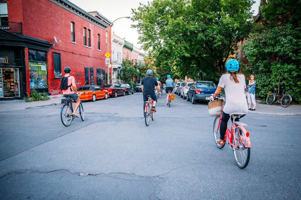 Copy of Plateau bike ride Montreal