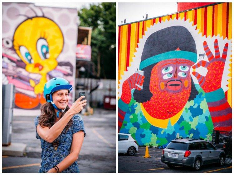 Copy of Montreal street art bike ride